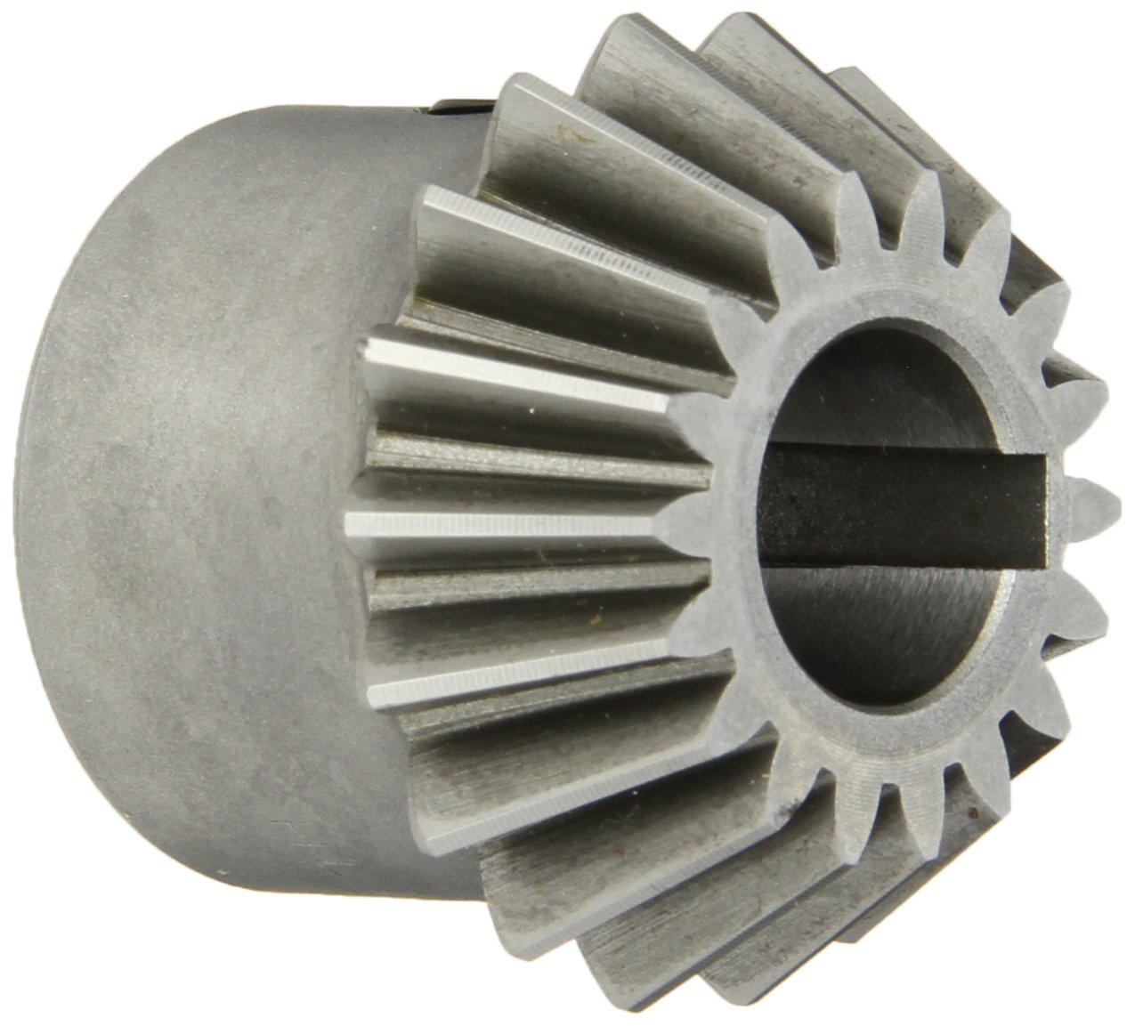 Boston Gear HL152Y-P Bevel Pinion Gear, 2:1 Ratio, 0.625'' Bore, 12 Pitch, 18 Teeth, 20 Degree Pressure Angle, Straight Bevel, Keyway, Steel with Case-Hardened Teeth
