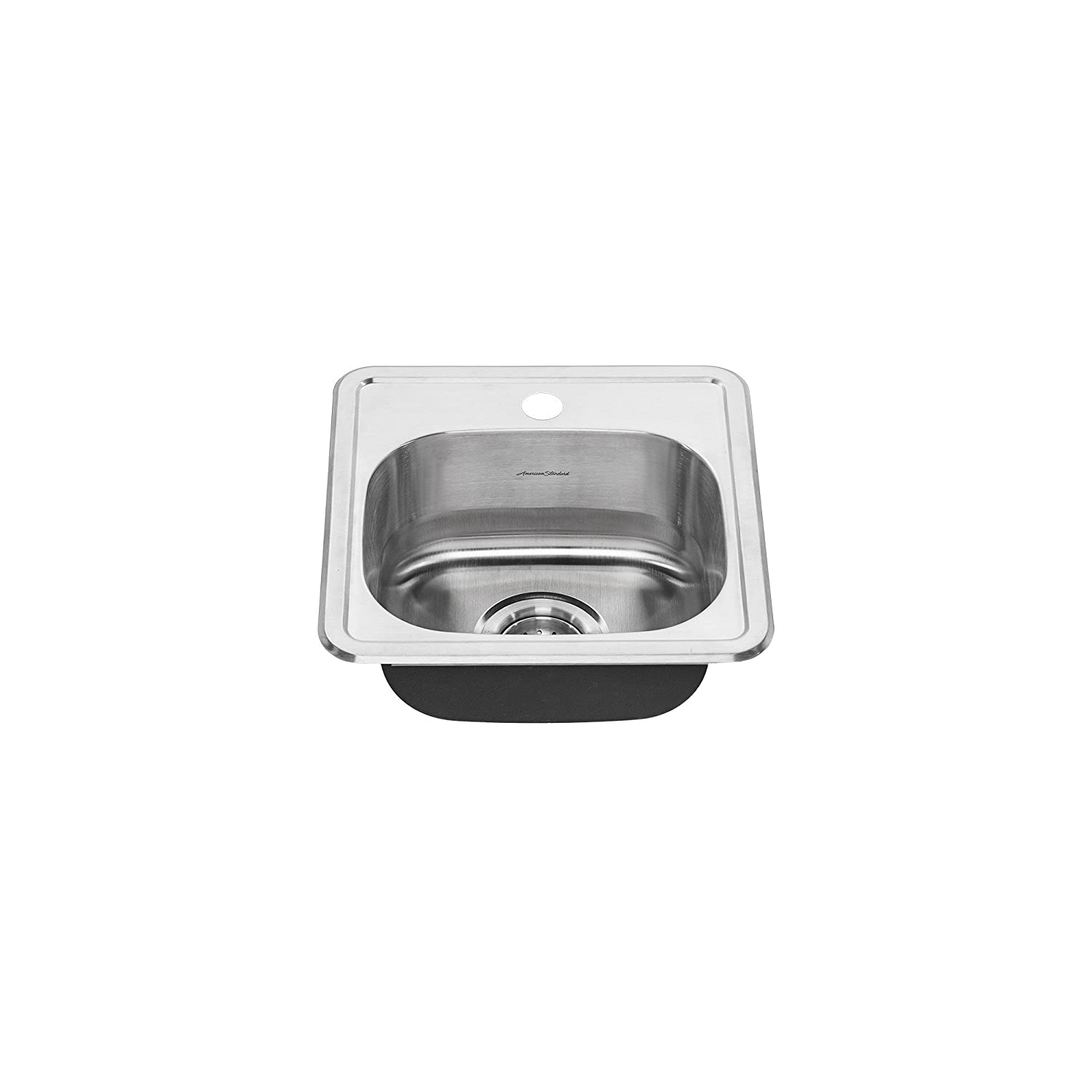 American Standard 22SB.6151511S.075 Colony Top Mount ADA 15x15 Single Bowl Stainless Steel 1-hole Kitchen Sink