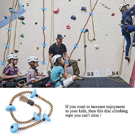 Fdit 1,8 m Escalada Cuerda Columpio con Plataformas Cinco ...