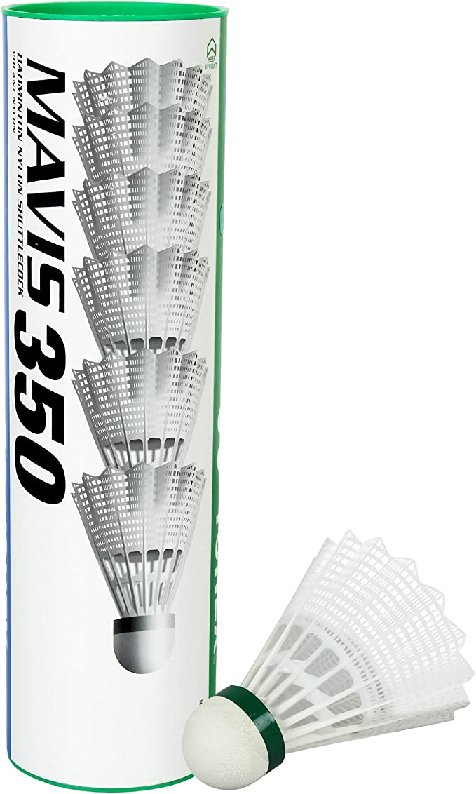 YONEX Mavis 350 Nylon Badmintonball Federball gelb//rot 12 Stück -NEU