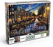 Quebra Cabeça 2 000 Peças Verão em Amsterdã Grow