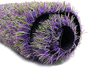 ProGoal Artificial Grass Mat Lavender Rug, for Patio, Balcony, Garden, Indoor Outdoor Flooring Décor, Easy to Clean with Drain Holes (36x24in, Lavender)