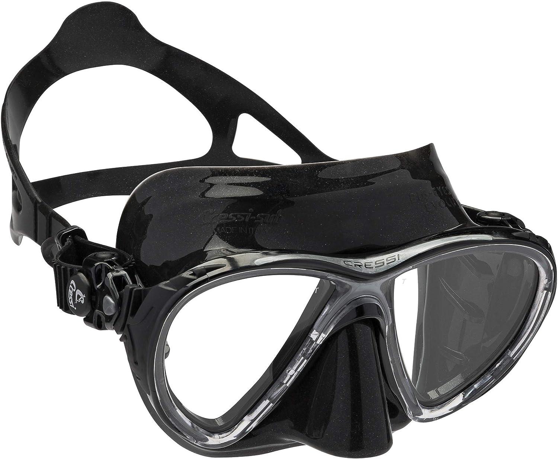 Cressi Big Eyes EVO Conjunto Combo de Snorkel Negro Lentes de Espejo Unisex Adulto Talla /Única