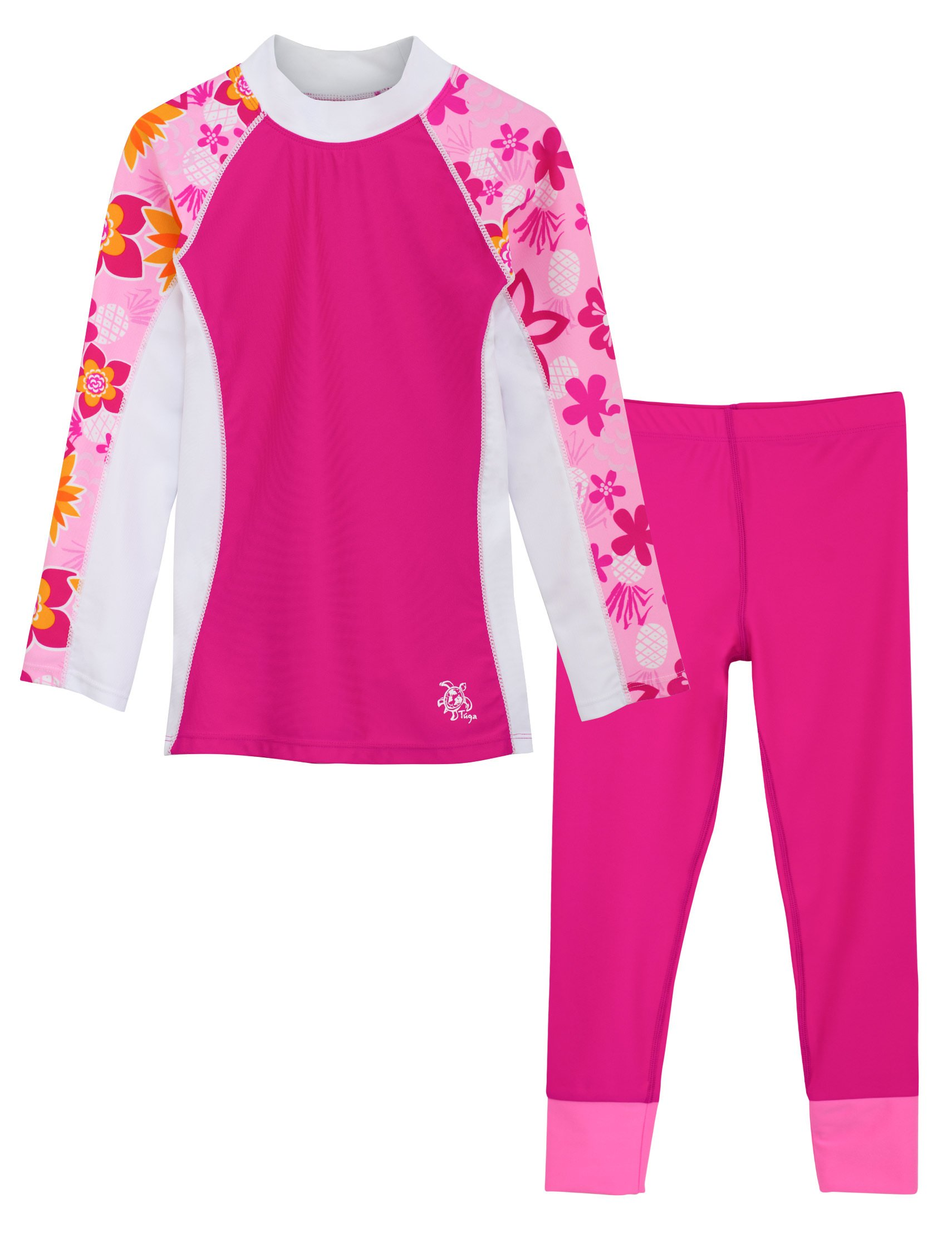 Tuga Girls Shoreline L/S Taffy & Swim Legging Fuchsia (UPF 50+), 12/18 mos by Tuga Sunwear
