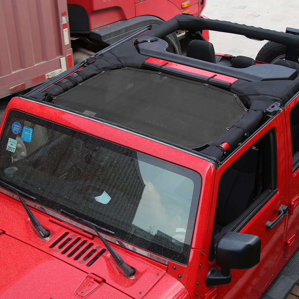 RT-TCZ Jeep Wrangler Front Windshield Sun Shade for Jeep Wrangler JK 2007-2017
