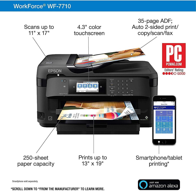 Plotter WF-7710 - Kit de materiales para impresora CISS (28 pulgadas, 15 x 15 pulgadas, 8 en 1): Amazon.es: Oficina y papelería