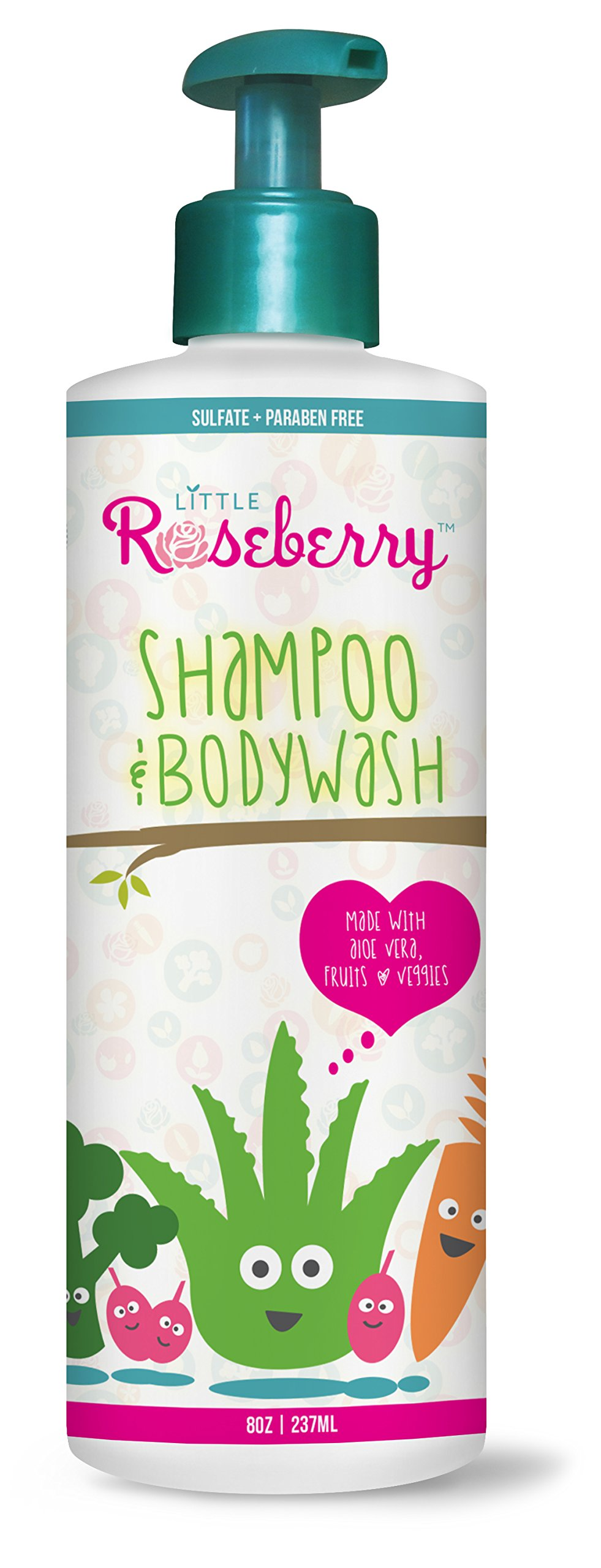 Kids Shampoo and Body Wash | Organic Aloe Formula for kids and Babies with Normal to Sensitive Skin| Eczema Friendly | Paraben, Sulfate & fragrance Free | Made in USA by a Cosmetologist