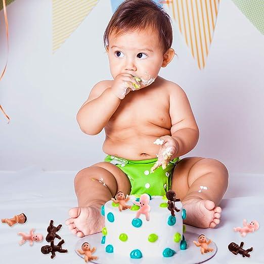 Baby Dusche Taufe Plastikbaby 60 Stück Mini Plastik Babys Für Babyparty Mini Kunststoff Babys Kleine Baby Puppen Für Eiswürfel Spiel Für Babyparty Eiswürfel Spiel Und Party Decoretions Spielzeug
