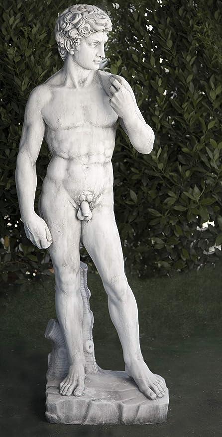 DEGARDEN Figura Estatua Decorativa David para jardín o Exterior ...