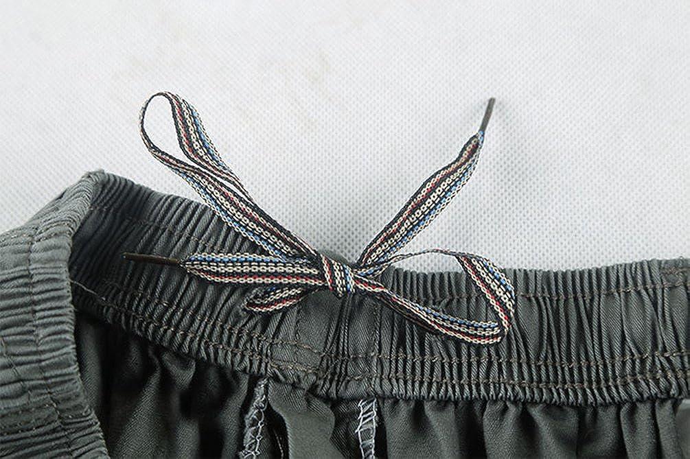 Heheja Pantaloncini da Uomo 3//4 Bermuda Cargo Shorts Pantaloni Tasche Laterali
