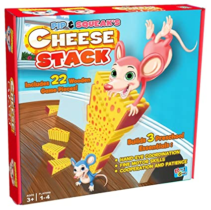 Amazon.com: Pip & Squeak de queso apilar juego de mesa: Toys ...