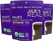 Julie's Real Organic Paleo Baking Mix | Dark Chocolate Brownie Mix | 3-Pack | Vegan, Keto, Diabetic Friendly | No Cane Sugar, Made with Almond Flour | 22.88 oz