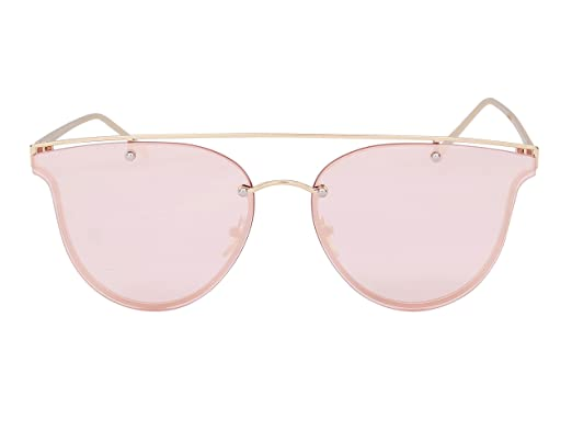 2b397cea46e0 Bellofox latest Caren Sunnies sunglasses Gold color Metal Cateye stylish  for women & girls: Amazon.in: Clothing & Accessories