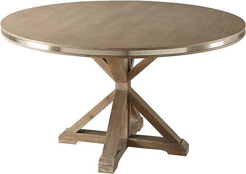 Homelegance 54 Round Dining Table, Oak