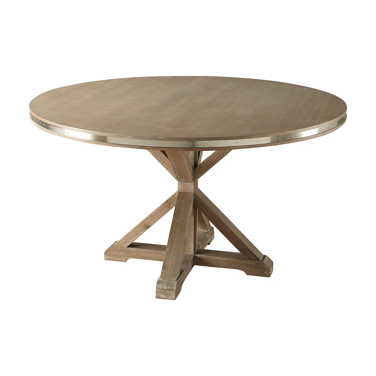 Homelegance 54 Round Dining Table, Oak