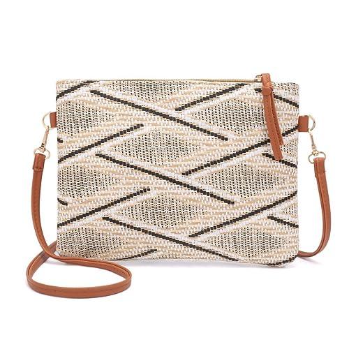 1cb940ef6089 Amazon.com: Nodykka Clutch Purses For Women Shoulder Rattan Straw ...