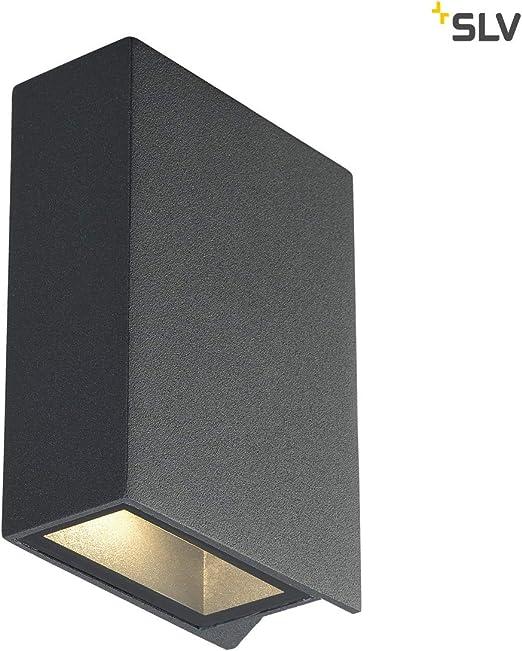 2x3W 3000K up-down piazza SLV Quad lampada da parete 2 antracite 232.475. LED