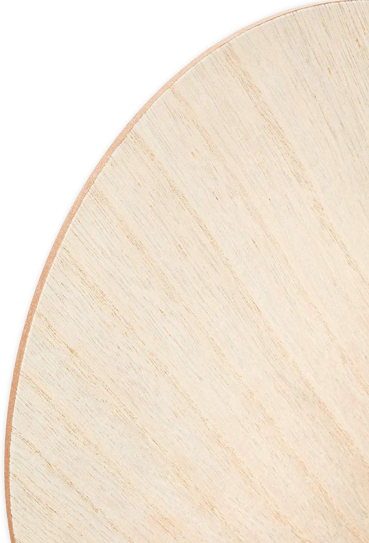 11.75 x 15.75 pulgadas, 6 unidades Paleta de pintura ovalada de madera