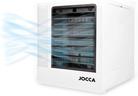 JOCCA 1228 Mini aire acondicionado portátil 3 en 1 USB, humidificador, purificador con 4 colores LED nocturno, PP, blanco: Amazon.es: Hogar
