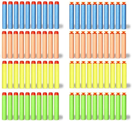Blue Metatze 100Pcs Foam Suction Darts Compatible for N-Strike Series Toy Foam Blasters Refill Bullets for Boys Girls Family Party