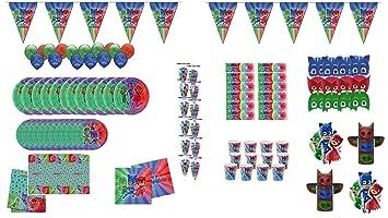 PJ Masks 1001, Lote Fiesta cumpleaños 12 Invitados,de la ...