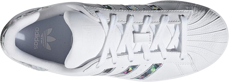 adidas Superstar, Sneakers Basses Femme.g0 (38 EU, White Iris Mirrors PRS)