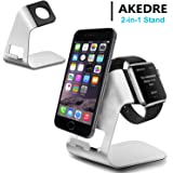 Apple Watch Stand , iphone Stand , AKEDRE Universal 2 in 1 Aluminium Charging Stand for iwatch / iphone X 6/7/8 Plus and all Android Smartphone (Apple Watch /iphone Stand)