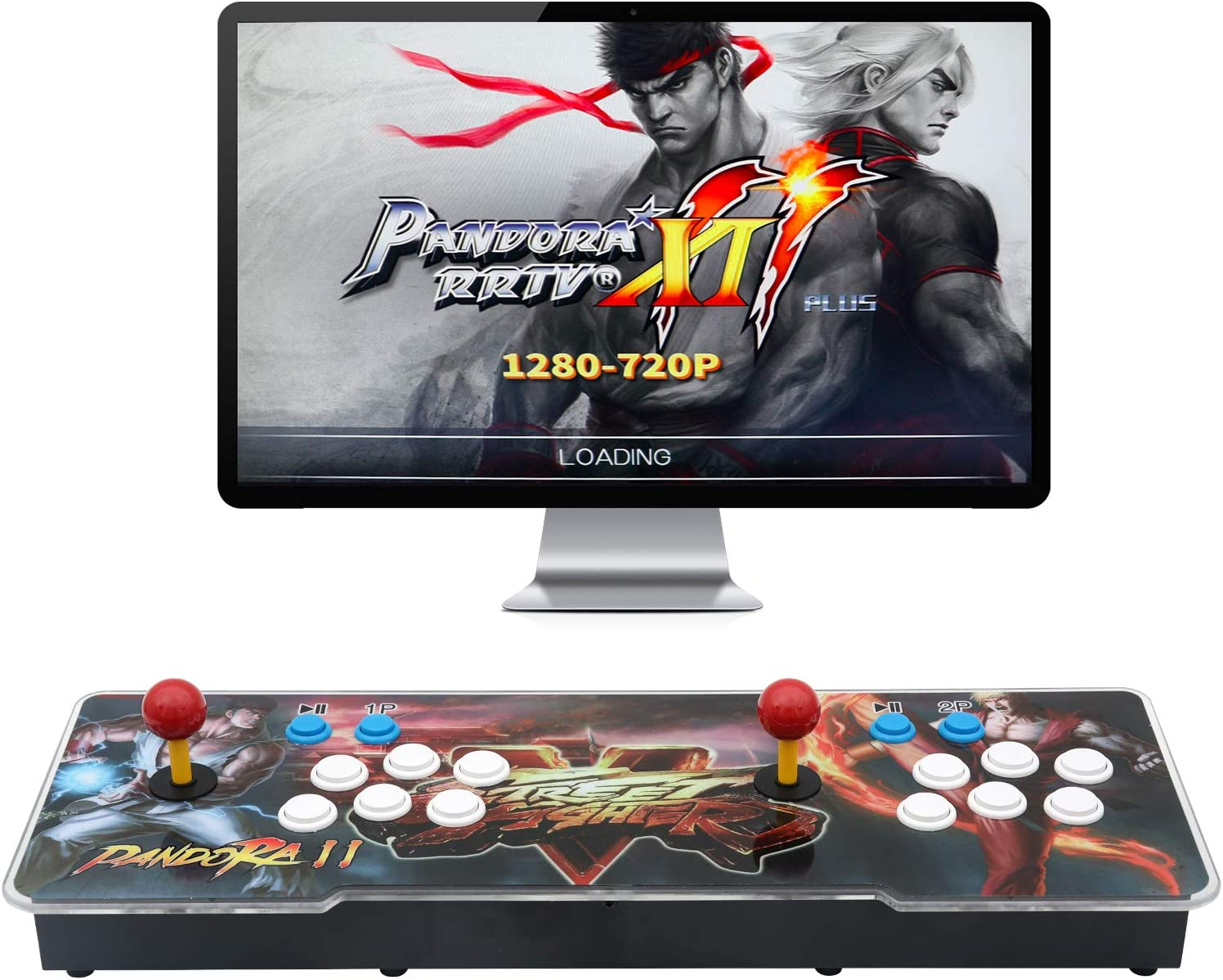 【3003 Games in 1】 Arcade Game Console ,Pandora Treasure 3D Double Stick,3003 Classic Arcade Game,Search Games, Support 3D Games,Favorite List, 4 Players Online Game,1280X720 Full HD Video Game (Black)