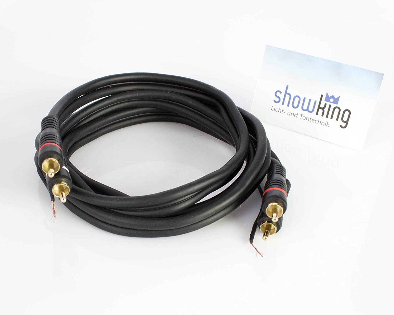 Cable cinch 2 x 2 /conexiones con toma de tierra showking Cable de audio para sistemas de sonido 1,5 m