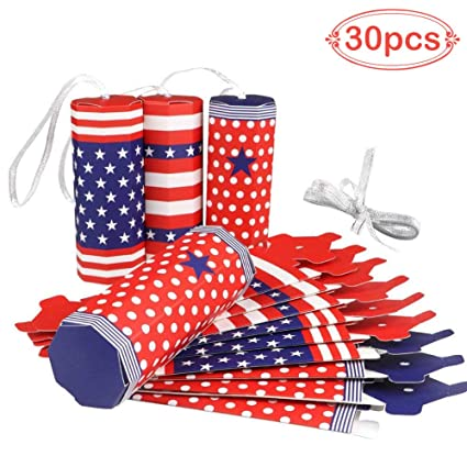 Amazon com: Aytai American Patriot Flag Firework Candy Boxes for