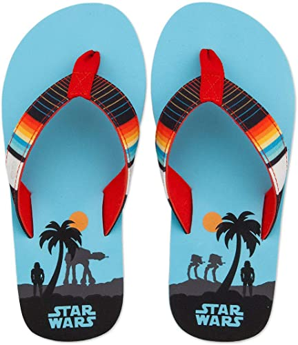 Toddler Boys Sling Back Beach Flip Flops Blue Size 7-8