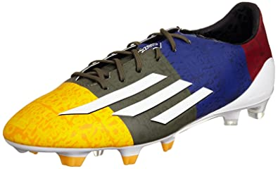 the latest 736e6 5a88b Adidas F50 Adizero FG Messi Football Boots, Solar Gold   Grey   Blue   Red