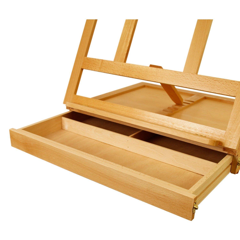 Solana Adjustable Wood Desk Easel with Drawer