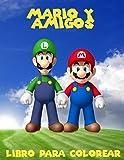 Mario y amigos livro para colorir: un gran libro para colorear  para los niños de 40 páginas  de diversión.
