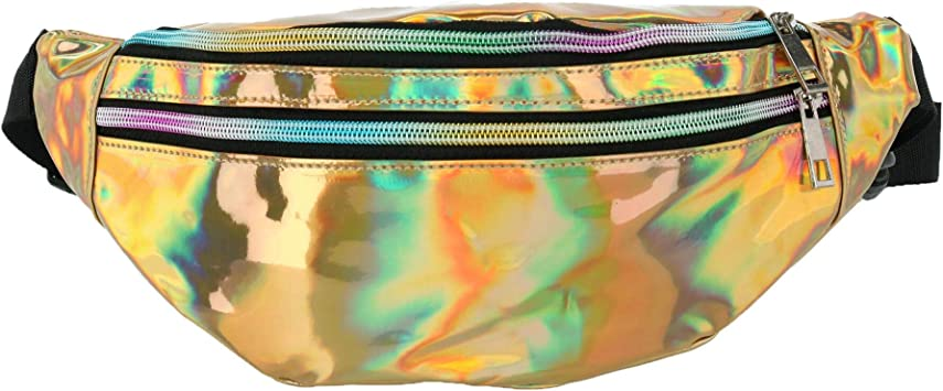 Nollia Iridescent Holographic Fashion Waist Pack Gold
