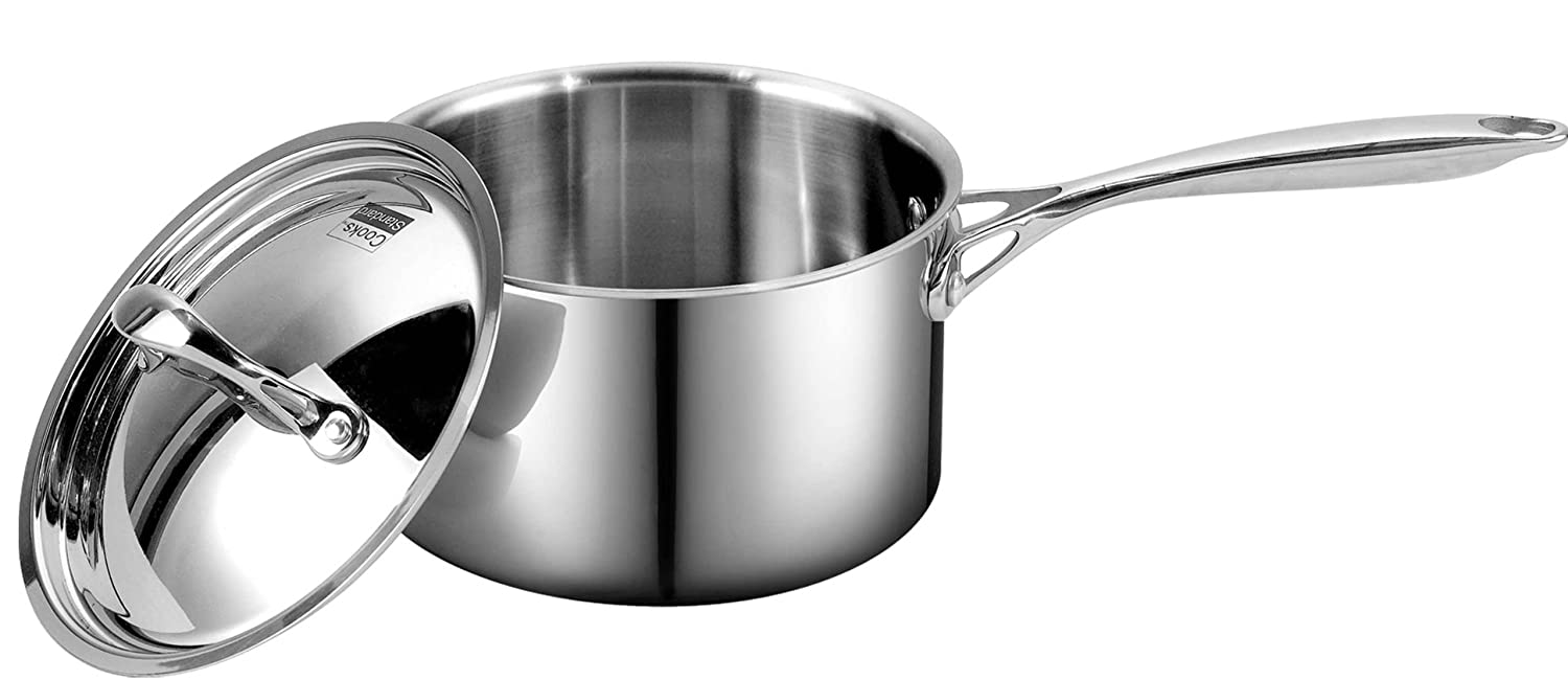 Cooks Standard Multi-Ply Clad Stainless-Steel 3-Quart Covered Sauce Pan