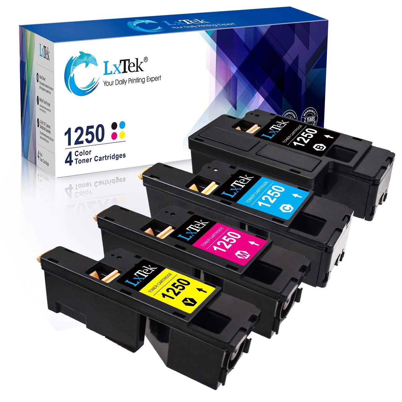Toner Alternativo ( X4 ) 4 Colores 1250 810WH C5GC3 XMX5D WM2JC 1250c C1760nw C1765nfw C1765nf 1350cnw 1355cn 1355cnw