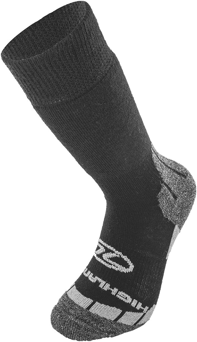 Grigio Highlander Uomo Base Lana Sock Nero