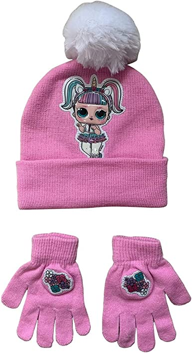 NWT LOL Surprise Winter CAP GLOVE AND HAT SET GIRLS