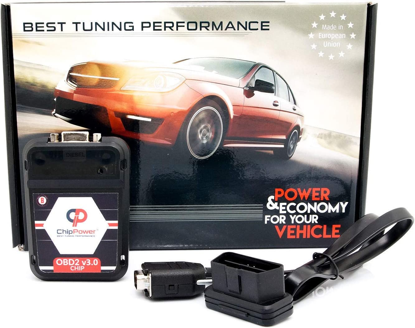 Chiptuning OBD2 v3 f/ür Cayenne S 385PS Power Chip Box Tuning Benzin