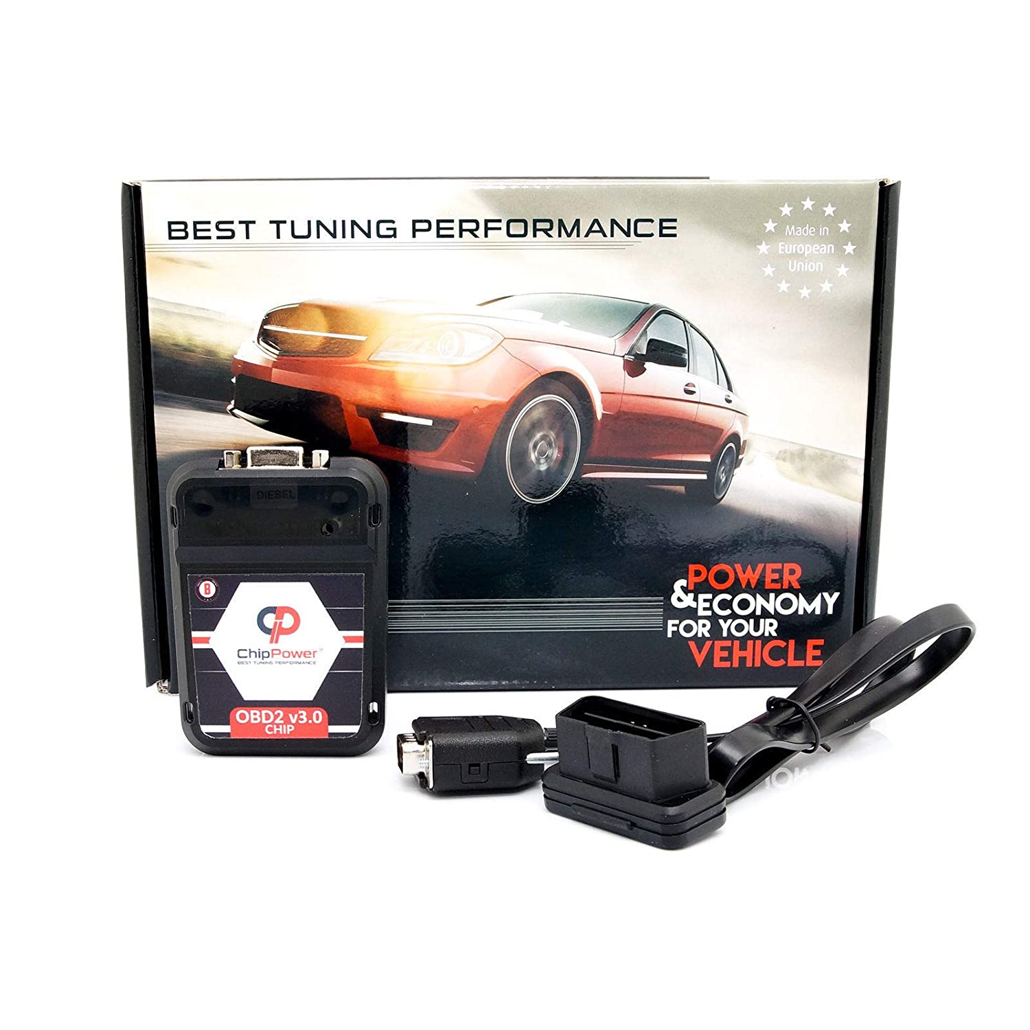 Chiptuning OBD2 v3 f/ür Kuga II 1.5 EcoBoost 150PS Power Chip Box Tuning Benzin