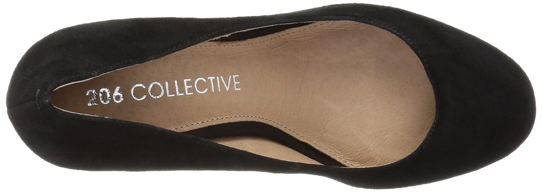 206 Collective Women's Coyle Round Toe Block Heel High Pump B078B27BPP 8 C/D US|Black Suede