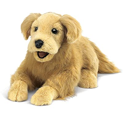 Folkmanis Golden Retriever Hand Puppet: Toys & Games