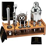 Soing Silver 24-Piece Cocktail Shaker...