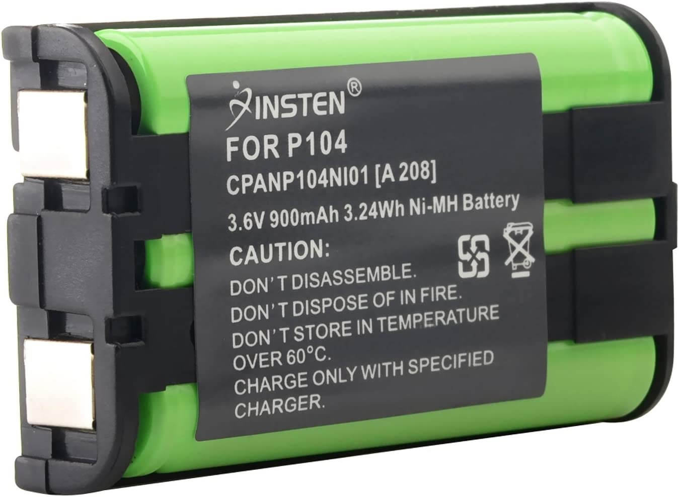 eForCity 2 x Phone Battery for Panasonic HHR-P104 HHR-P104A New