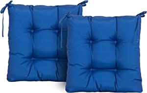 ARTPLAN Outdoor Cushions Patio Seat Cushions Set of 2 Wicker for Patio Furniture Tufted Pillow for All Weather