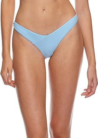 54af815025e1d Body Glove Women's Dana Low Rise Cheeky Bikini Bottom Swimsuit, Ibiza Ribbed  Angel, X