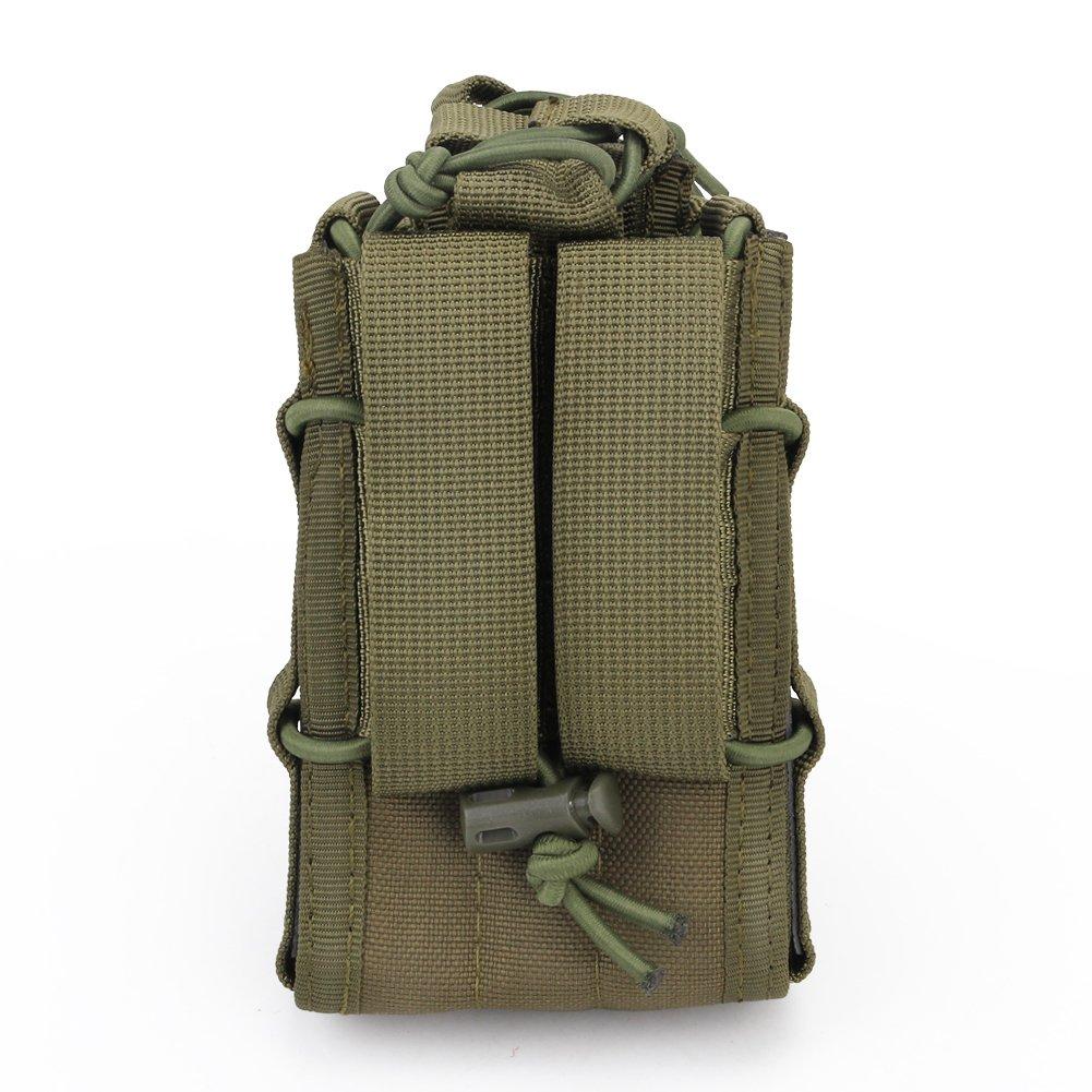 M16 Estuche y estuche para pistola MOLLE Pouch haoYK Tactical Outdoor Solo estuche abierto para el ej/ército Molle Airsoft Mag Estuche para bolso M4 Desert Digital