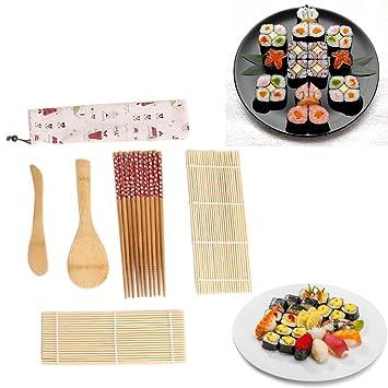 TAOtTAO Juego de 7 piezas para hacer sushi, kit de rodillos de arroz, molde