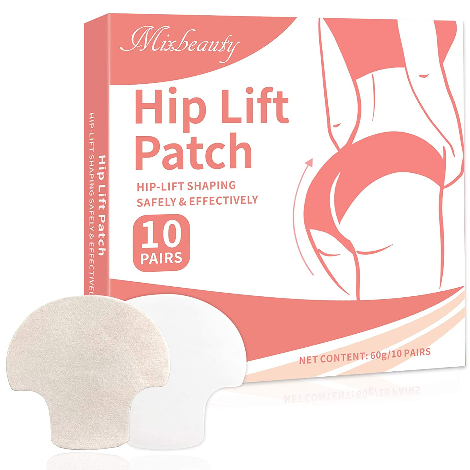 Mixbeauty Hip Lift Up Patch,Butt Enhancement Patch,Buttocks Firming Patch for Women, Tightening Shaping Body Shaper Sticker-10 Pair